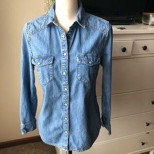 Boden Pearl Snap Button Denim Shirt